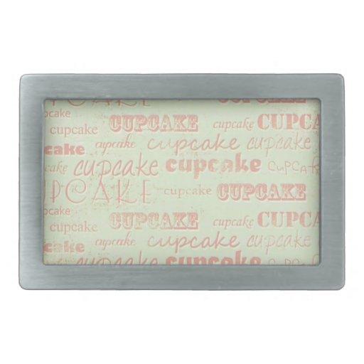 Tipografía de la magdalena del vintage hebilla cinturon rectangular