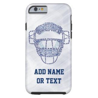 Tipografía de la máscara del colector del softball funda de iPhone 6 tough