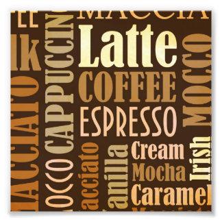 Tipografía de la mazarota del café fotografías