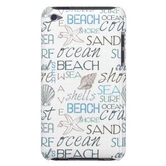 Tipografía de la playa iPod touch fundas