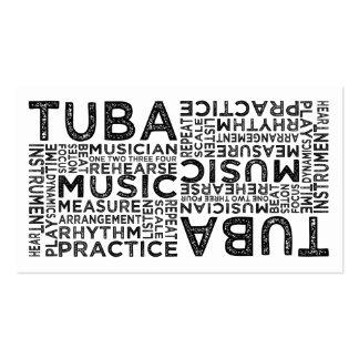 Tipografía de la tuba plantilla de tarjeta personal