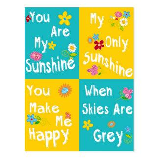 Tipografía de motivación de las frases - collage tarjetas postales