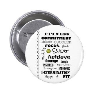 Tipografía de motivación e inspirada de la aptitud pin