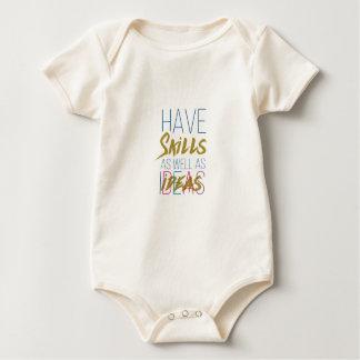 Tipografía de motivación inspirada de las trajes de bebé