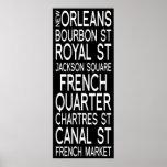 Tipografía de New Orleans el | Poster