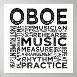 Tipografía de Oboe Poster