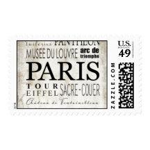 Tipografía de París - estilo del subterráneo Sellos