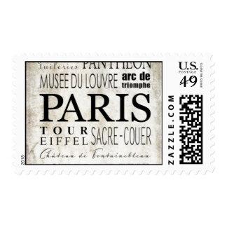 Tipografía de París - estilo del subterráneo Sellos Postales