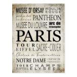 Tipografía de París - estilo del subterráneo Postales