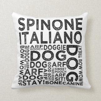 Tipografía de Spinone Italiano Cojín Decorativo