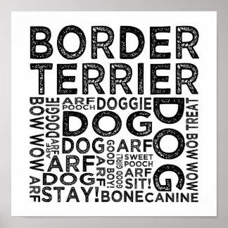 Tipografía de Terrier de frontera Poster