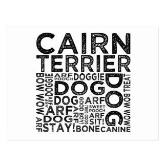 Tipografía de Terrier de mojón Tarjetas Postales