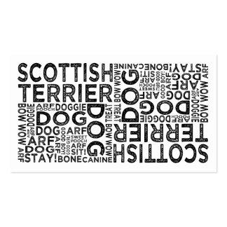 Tipografía de Terrier del escocés Tarjetas Personales