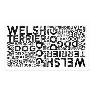 Tipografía de Terrier galés Tarjetas De Visita