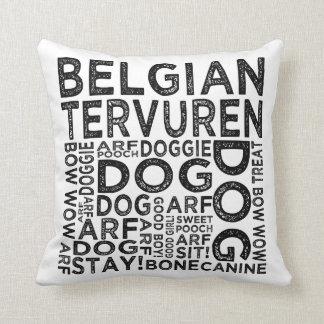 Tipografía de Tervuren del belga Cojín Decorativo