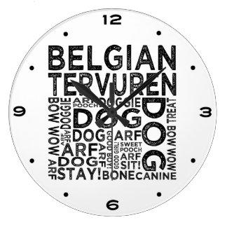 Tipografía de Tervuren del belga Reloj Redondo Grande