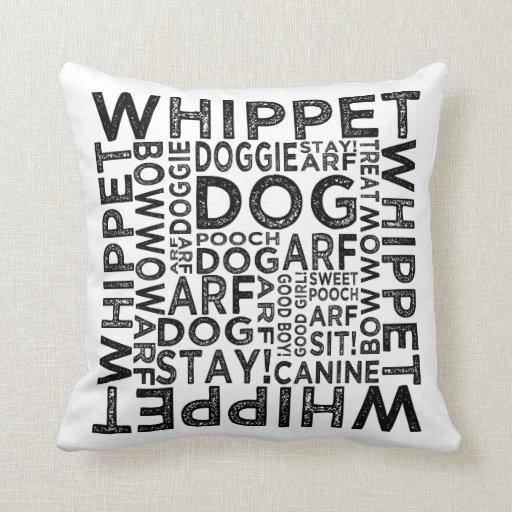 Tipografía de Whippet Cojines