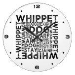 Tipografía de Whippet Reloj De Pared