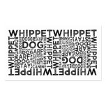 Tipografía de Whippet Tarjeta De Visita