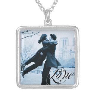 Tipografía del amor su plantilla de la foto collar personalizado