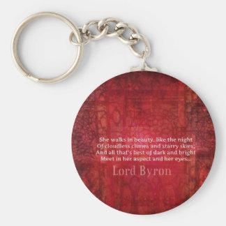 Tipografía del arte de la cita de señor Byron Roma Llavero