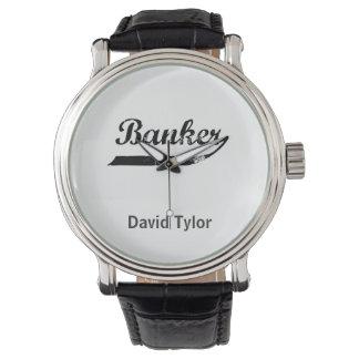 Tipografía del banquero relojes de pulsera