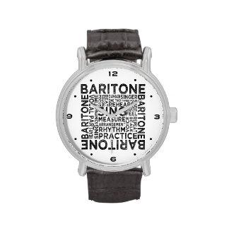 Tipografía del barítono relojes de mano