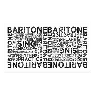 Tipografía del barítono tarjeta personal