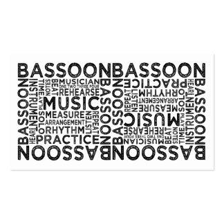 Tipografía del Bassoon Tarjetas De Visita