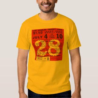 Tipografía del boleto del tránsito de Los Ángeles Camisas