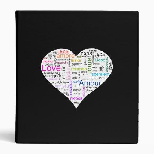 Tipografía del corazón del amor del arco iris