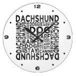 Tipografía del Dachshund Relojes