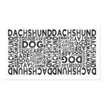 Tipografía del Dachshund Plantillas De Tarjeta De Negocio