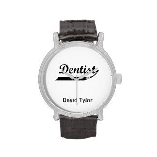 Tipografía del dentista relojes de mano