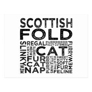 Tipografía del gato del doblez del escocés tarjetas postales