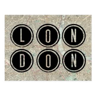 Tipografía del mapa de Londres Postal