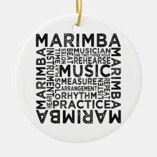 Tipografía del Marimba Adorno Navideño Redondo De Cerámica