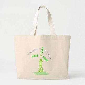 Tipografía del molino de viento bolsas de mano