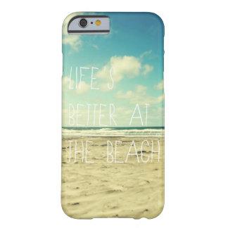Tipografía del océano del caso del iPhone 6 de la Funda Para iPhone 6 Barely There