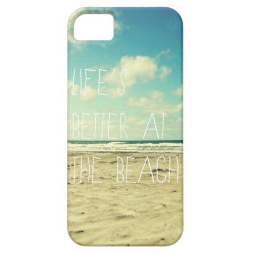 Tipografía del océano del caso del iphone de la pl iPhone 5 Case-Mate funda