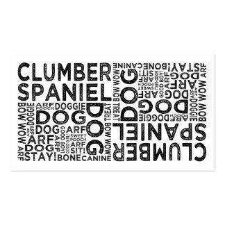Tipografía del perro de aguas de Clumber Tarjetas De Visita