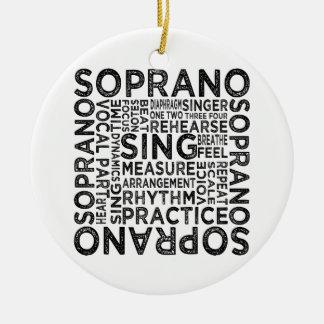 Tipografía del soprano adorno redondo de cerámica