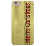 Tipografía del tartán - Felices Navidad - hoja de Funda De iPhone 6 Plus Barely There