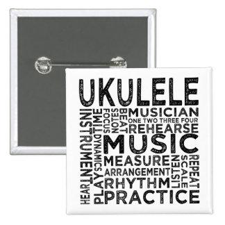 Tipografía del Ukulele Pins