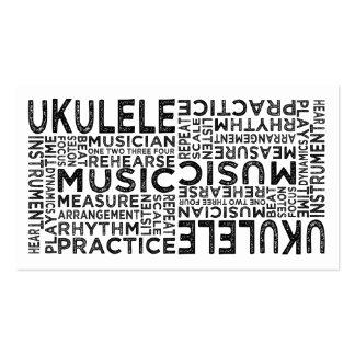 Tipografía del Ukulele Tarjeta De Visita