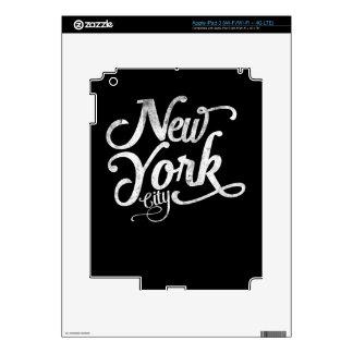 Tipografía del vintage de New York City Pegatina Skin Para iPad 3
