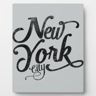 Tipografía del vintage de New York City Placas De Madera
