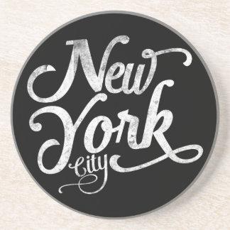 Tipografía del vintage de New York City Posavasos Para Bebidas