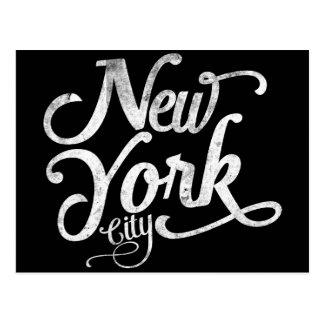 Tipografía del vintage de New York City Tarjetas Postales