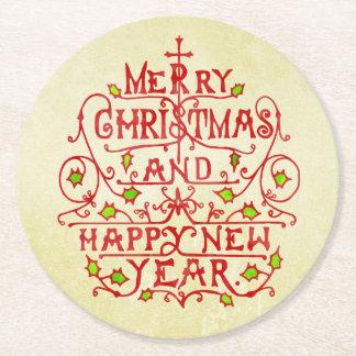 Tipografía del vintage del Año Nuevo del navidad